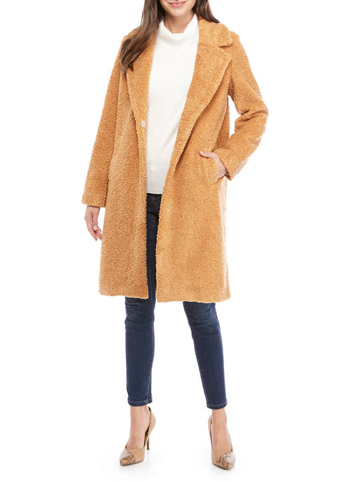 THE LIMITED Petite Long Teddy Coat