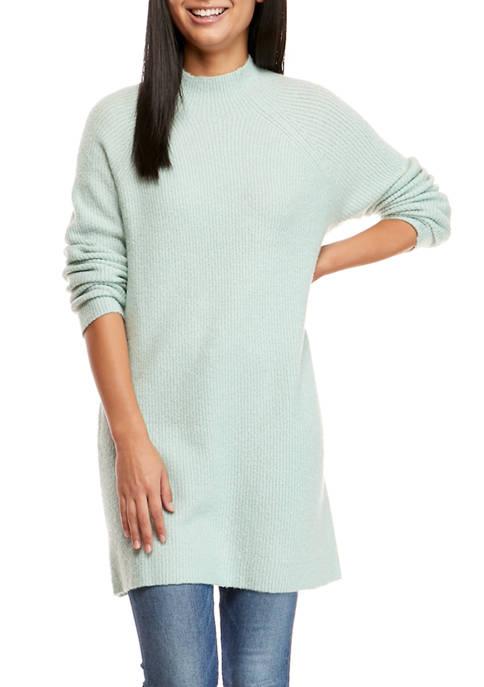 Womens Long Sleeve Tunic Sweater