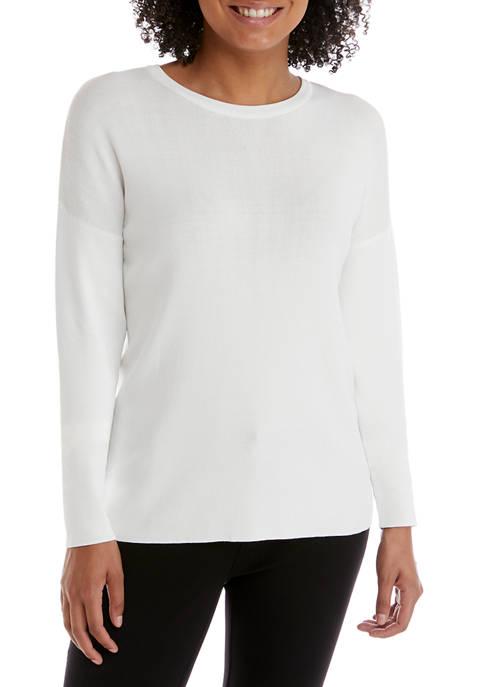 Petite Drop Shoulder Crew Sweater