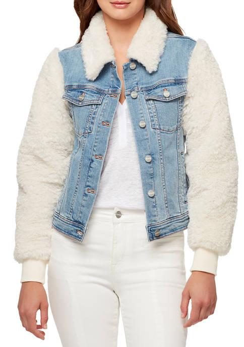 Womens Minka Fur Denim Jacket