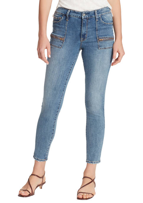 Womens Social Standard Utility Skinny Ankle Jeans