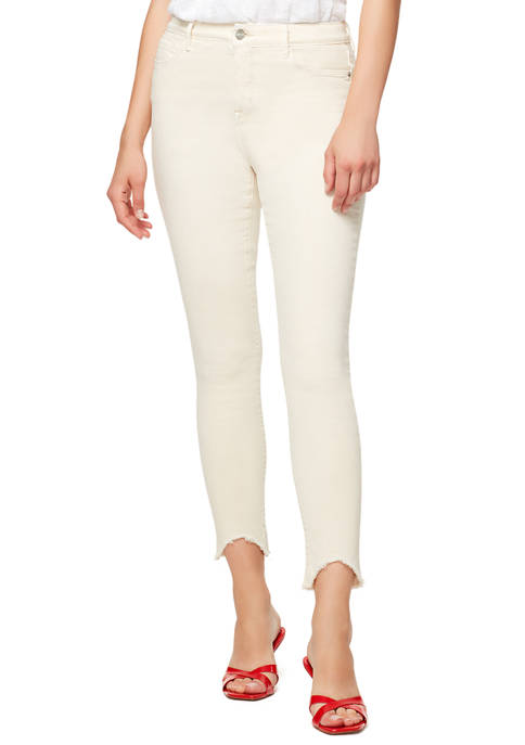 Womens Social Standard High Rise V Cut Hem Jeans