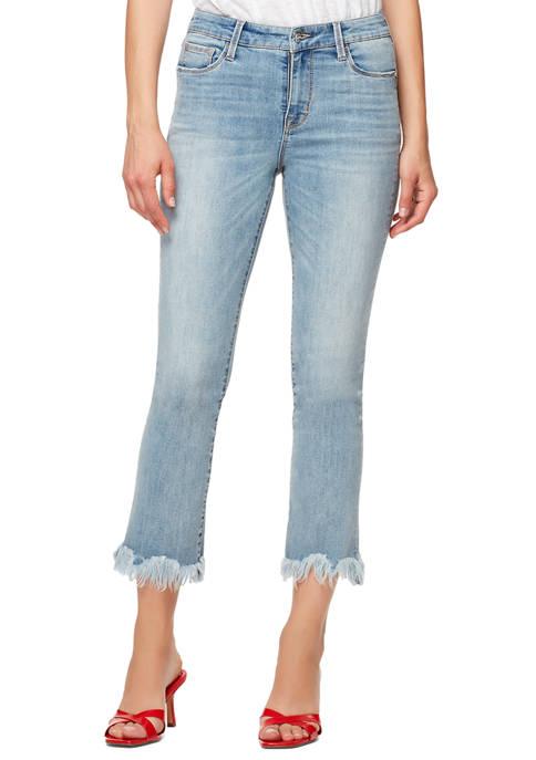 Sanctuary Denim Womens Connector Crop Scalloped Hem Jeans