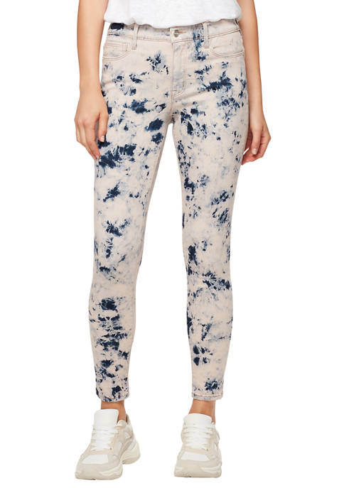 Sanctuary Denim Womens Skinny Ankle Tie Dye Jeans