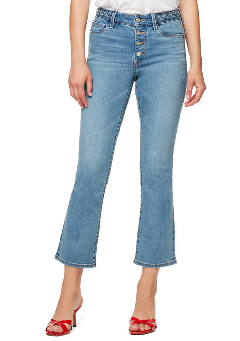 Sanctuary Denim Kick Crop Jeans with Braided Waistband