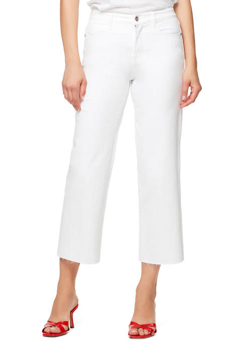 Womens Wide Leg Crop Jeans