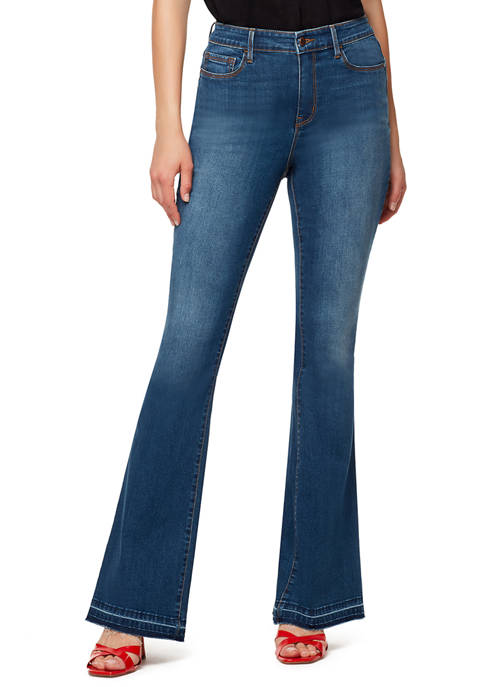 Sanctuary Denim Womens Attract High Rise Flare Jeans