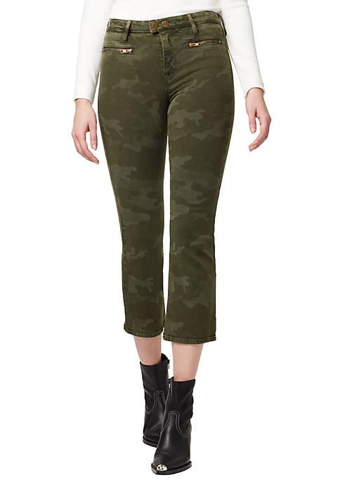 Zip Connector Kick Crop Jeans