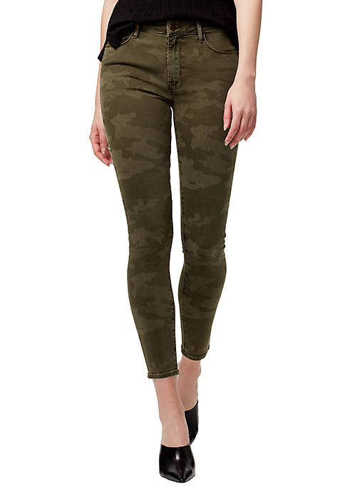 Social Standard Camo Printed Skinny Ankle Jeans