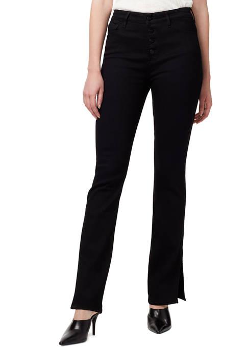 Sanctuary Denim Womens Exposed Button Denim Bootcut Jeans