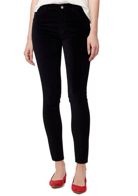 Womens Social Standard Velvet Skinny Jeans
