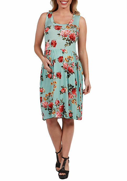 Maternity Sleeveless Fit and Flare Dress
