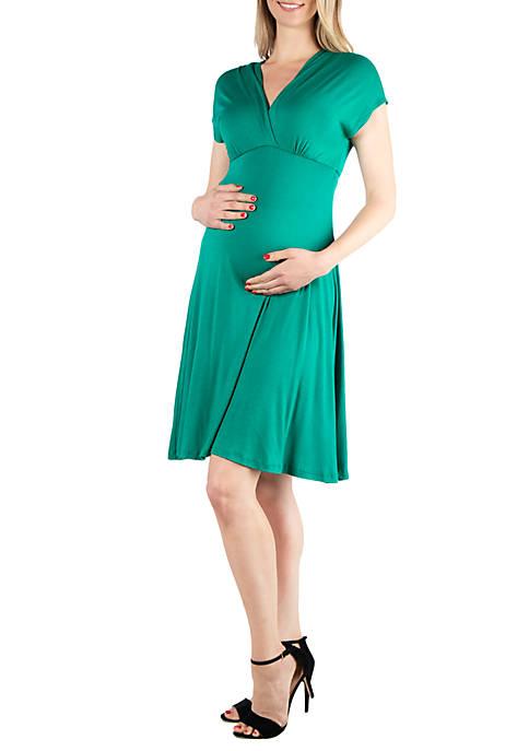 Maternity Short Sleeve Empire Waist Dress