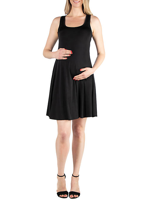 24seven Comfort Apparel Maternity Fit and Flare Knee