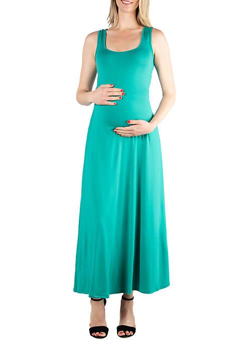 Maternity Simple A Line Tank Maxi Dress