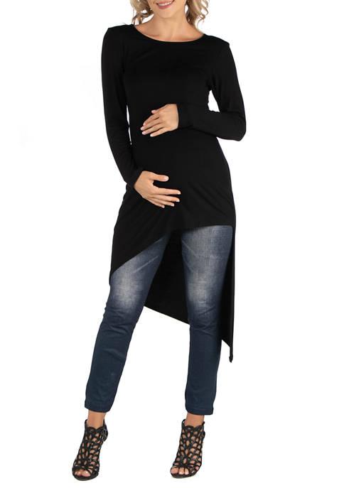 24seven Comfort Apparel Maternity Full Length Long Sleeve