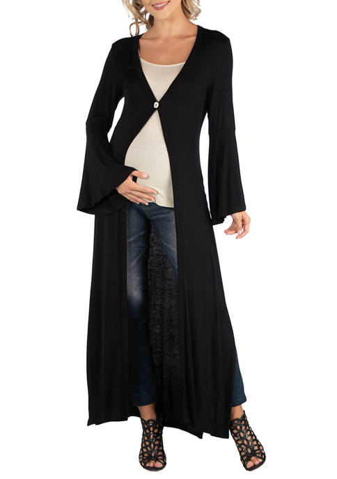Maternity Womens Long Sleeve Maxi Length  Cardigan
