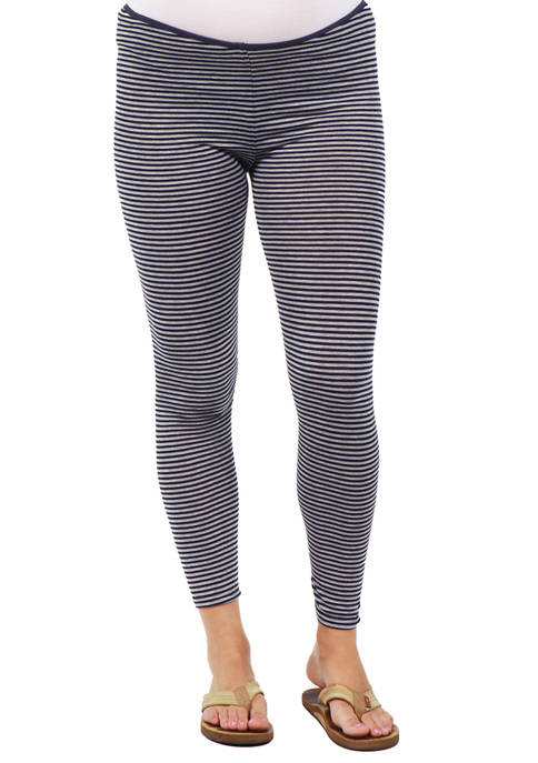 Maternity Stripped Stretch Ankle Length Leggings