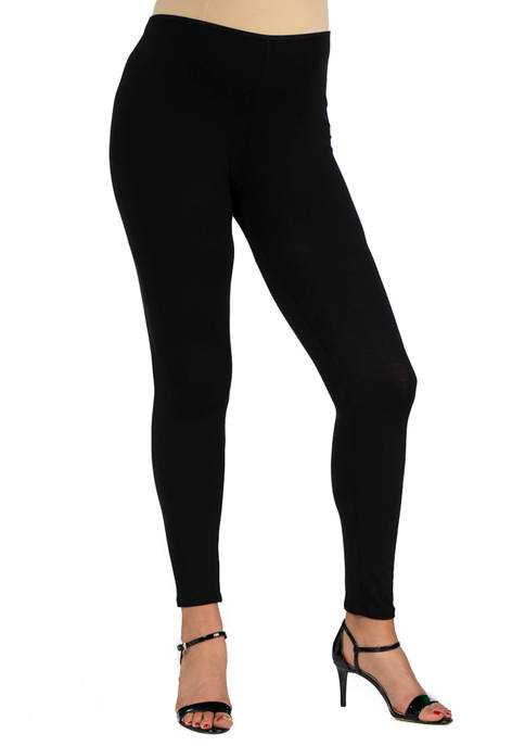 24seven Comfort Apparel Maternity Stretch Ankle Length Leggings