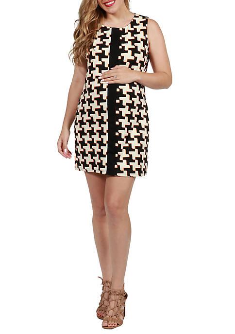 Maternity Sleeveless Abstract Mini Maternity Dress