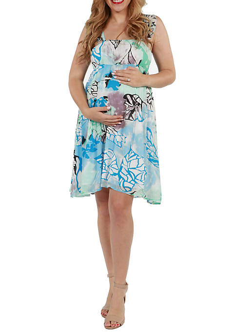 Maternity Sleeveless Flowy Summer Dress
