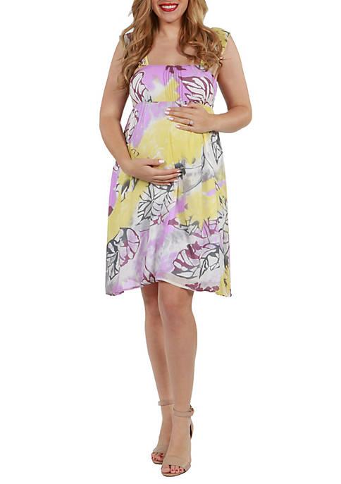24seven Comfort Apparel Maternity Sleeveless Lightweight Flowy