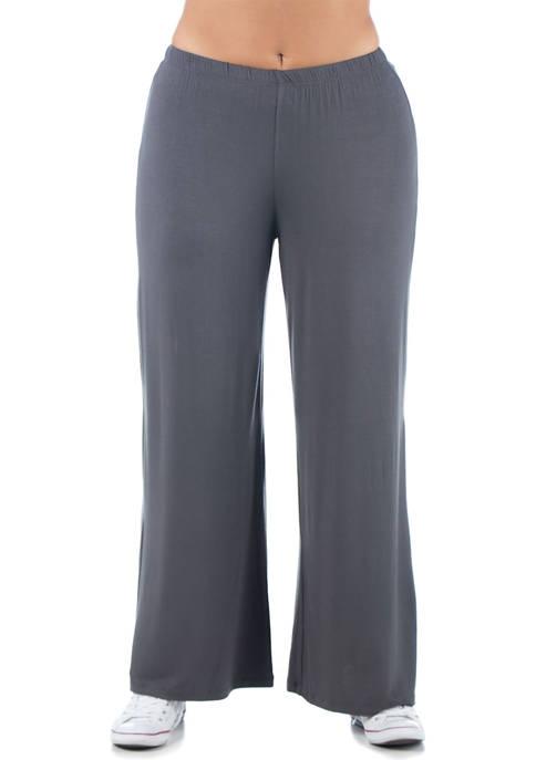 24seven Comfort Apparel Plus Size Comfortable Solid Color