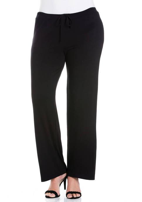 24seven Comfort Apparel Plus Size Comfortable Stretch Drawstring