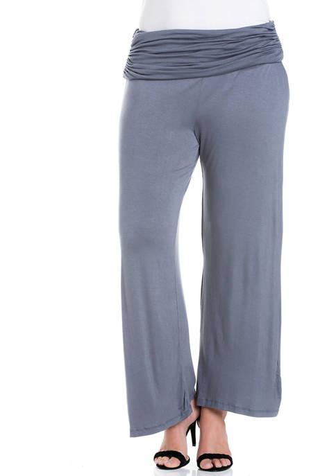24seven Comfort Apparel Plus Size Fold Over Elastic