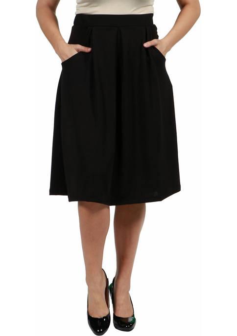 24seven Comfort Apparel Plus Size Classic Knee Length