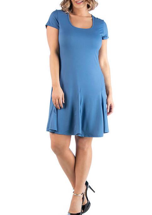 24seven Comfort Apparel Plus Size Knee Length Short