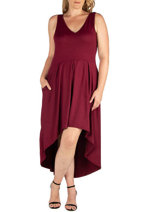 24seven Comfort Apparel Plus Size High Low Party