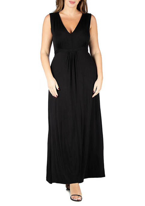 24seven Comfort Apparel Plus Size Sleeveless Empire Waist