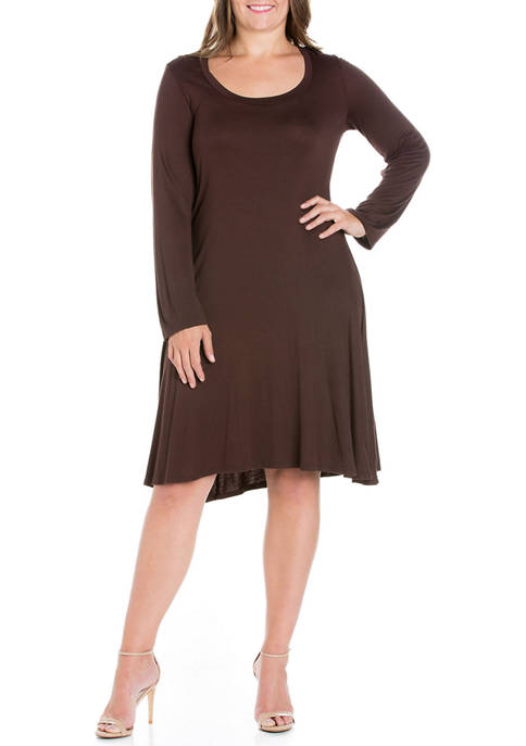 24seven Comfort Apparel Plus Size Classic Long Sleeve