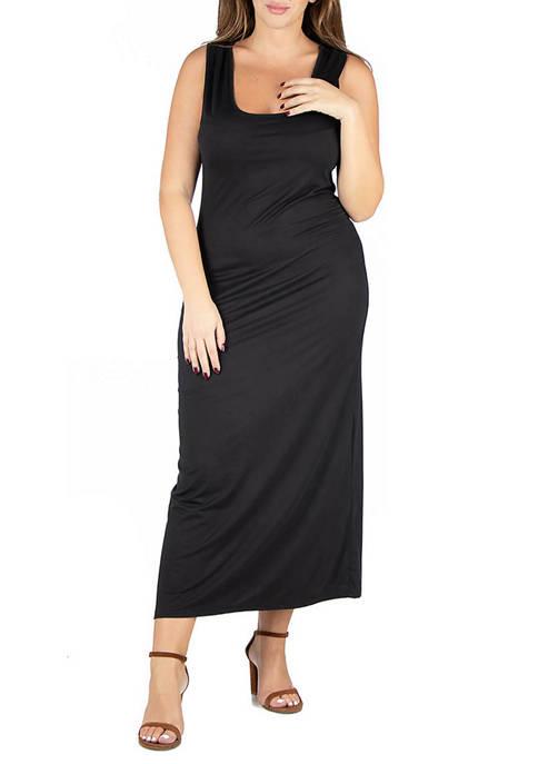 24seven Comfort Apparel Plus Size Racerback Maxi Dress