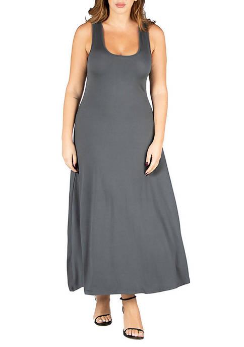 24seven Comfort Apparel Plus Size Simple A Line