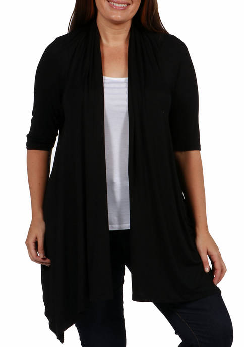 24seven Comfort Apparel Plus Size Elbow Length Sleeve