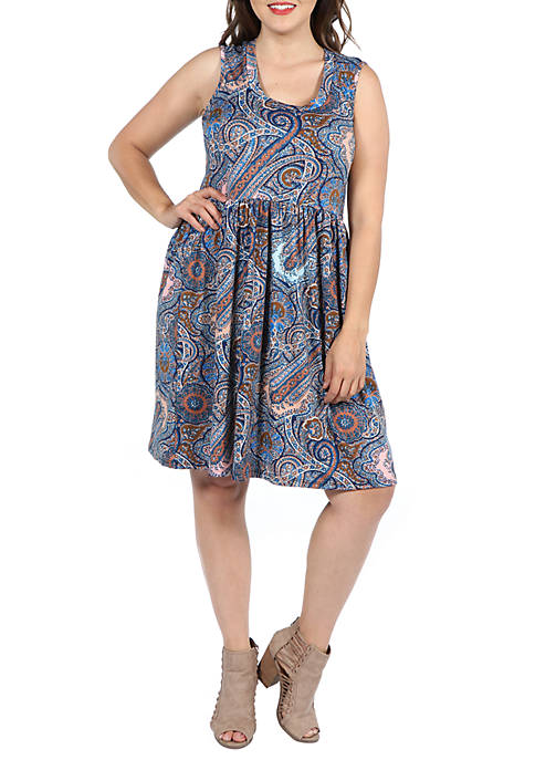 24seven Comfort Apparel Plus Size Sleeveless Fit and