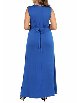 Plus Size Sleeveless Empire Waist Maxi Dress