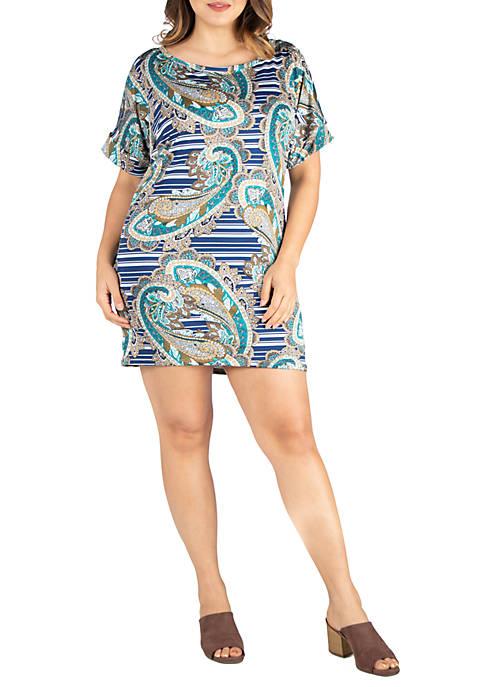 Plus Size Loose Fitting T-Shirt Dress