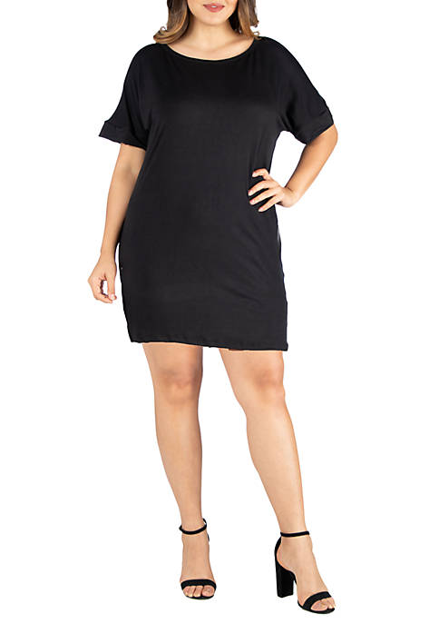 24seven Comfort Apparel Plus Size Loose Fitting T-Shirt