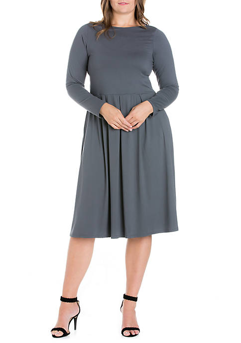 24seven Comfort Apparel Plus Size Long Sleeve Fit