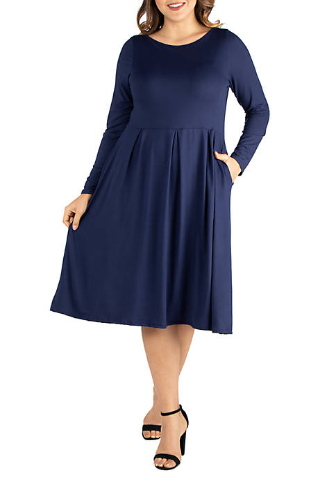 24seven Comfort Apparel Plus Size Long Sleeve Fit