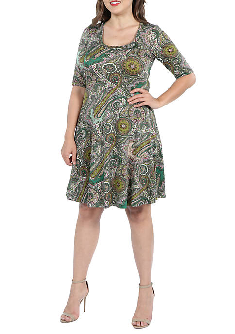24seven Comfort Apparel Plus Size Elbow Sleeve Knee