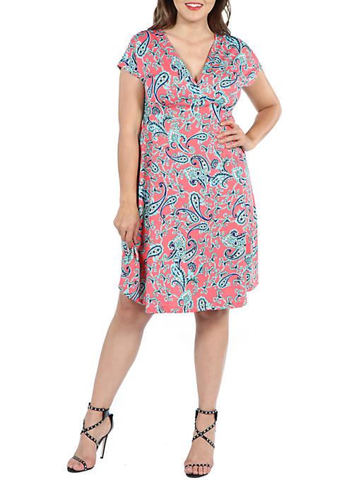 24seven Comfort Apparel Plus Size Short Sleeve Empire