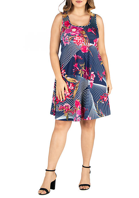 24seven Comfort Apparel Plus Size Fit and Flare