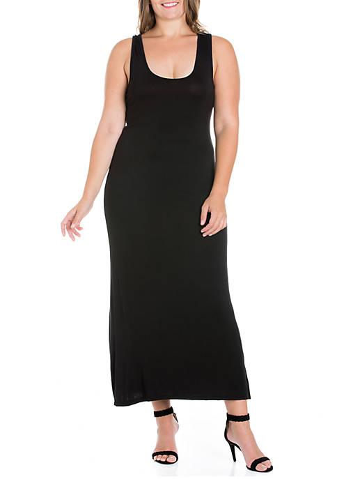 Plus Size Racerback Maxi Dress