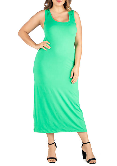 Plus Size Racerback Maxi Dress