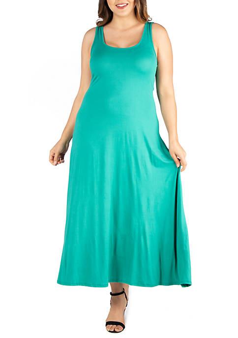 Plus Size Simple A Line Tank Maxi Dress