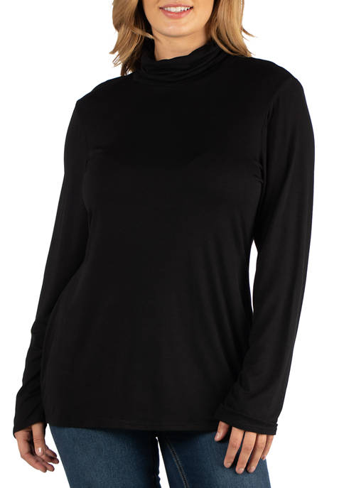 24seven Comfort Apparel Plus Size Classic Long Sleeve